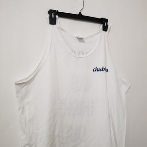 "Chubbies Mens XL ""sky's out thighs out"" White Tank"